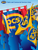 Public and Commercial Services Union branding