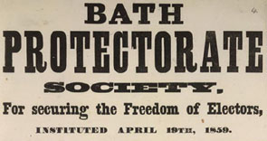 Poster for the Bath Protectorate Society