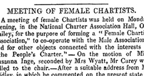 Meeting of Female Chartists