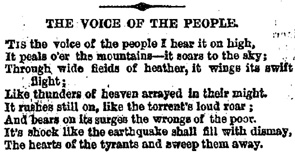 'The Voice of the People' - Chartist Poem