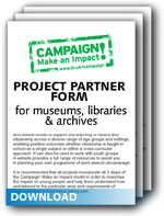 Download the Project Partner form for Museums, Libraries and Archives
