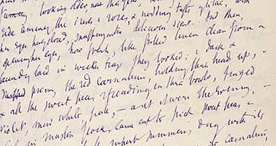 A page taken from the notebook of Virginia Woolf, 1924