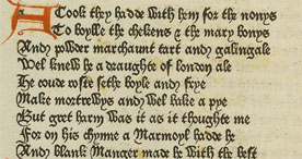 Extract from Caxton's Prologue to the Canterbury Tales