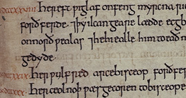 Detail of Anglo Saxon Chronicle