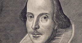 Detail of Portrait of Shakespeare