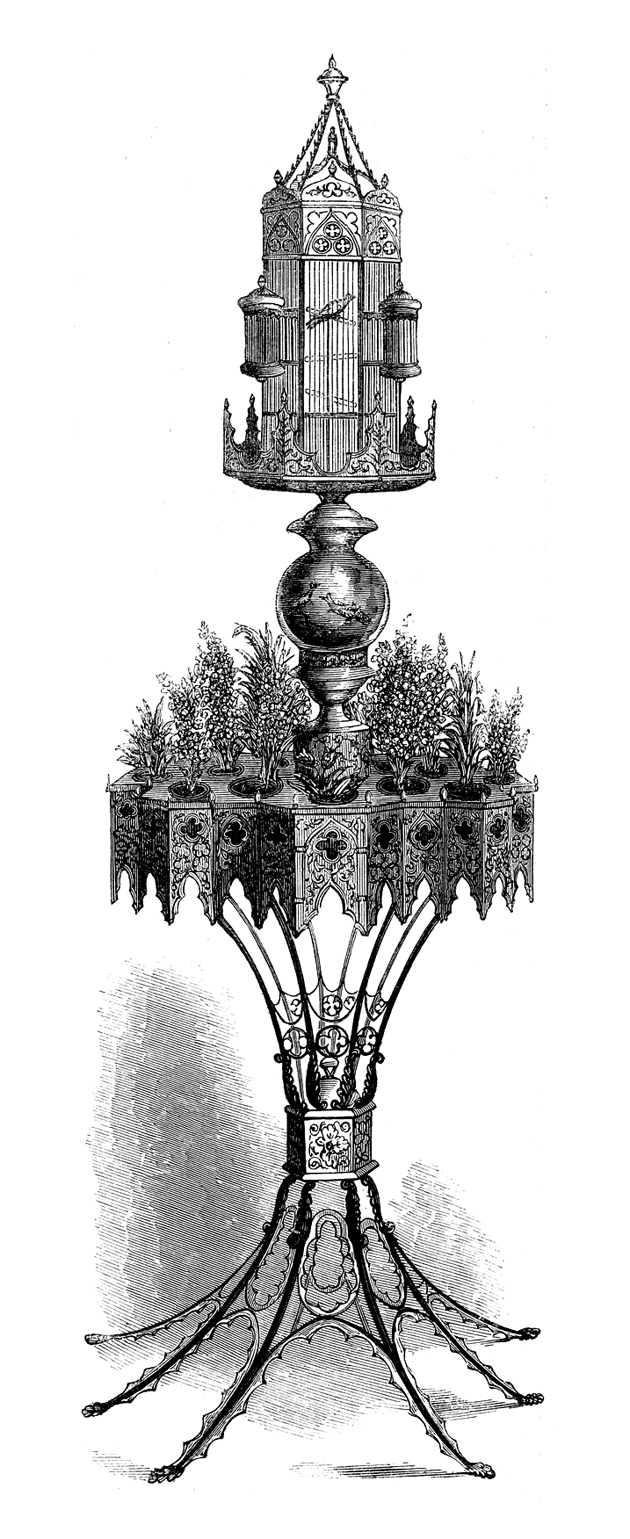 Rau's ornamental birdcage and stand