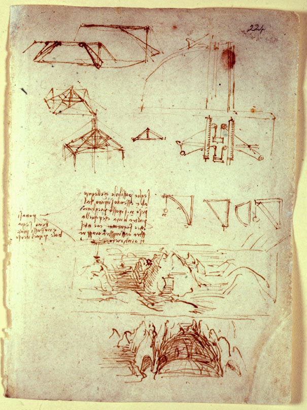 image of da vinci notebook