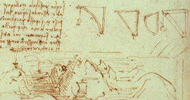 detail of da vinci notebook