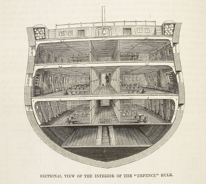 Diagram of the Interior of a Hulk, 1862