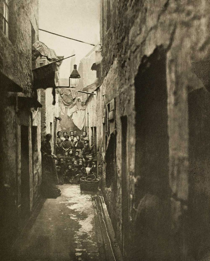 Photograph of a Glasgow Slum, 1868