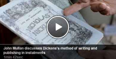 John Mullen discusses Dickens's method of writing and publishing in installments