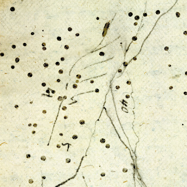 Image of detail of a map from Joseph Hékékyan's journal