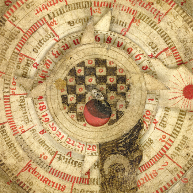 Image of detail of astonomical calendar