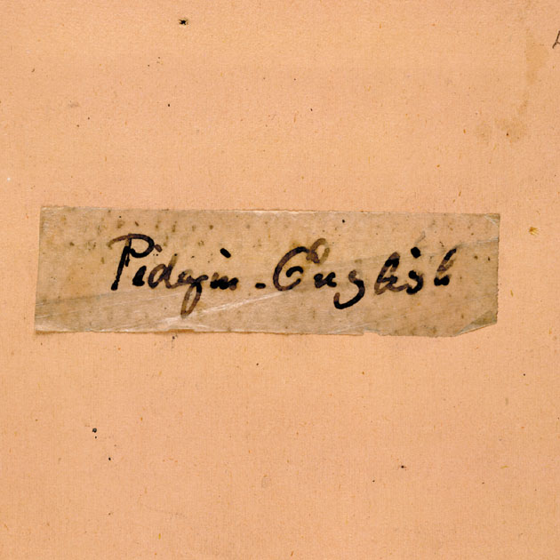 Image of C. G. Leland Collection 'Pidgin-English'