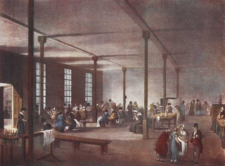Illustration of St James's Parish Workhouse, 1808