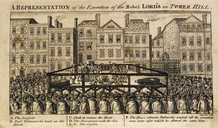 Illustration in the Tyburn Chronicle of a public execution , 1786