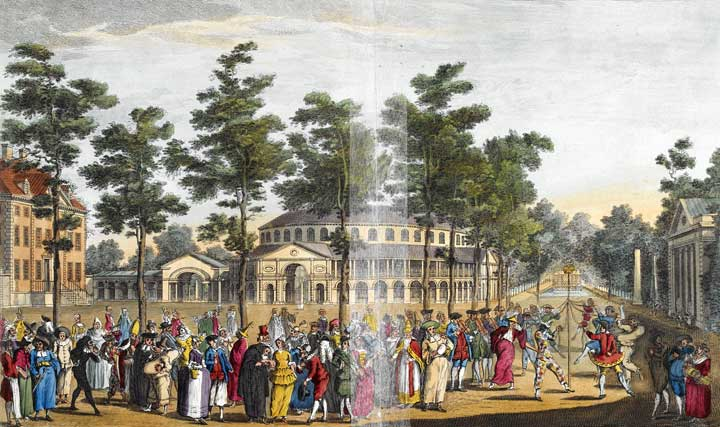 Entertainments at Ranelagh Pleasure Gardens, c.1742