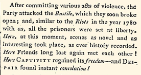 Article describing the beginnings of the French Revolution, reported in The World, July 1789