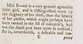 Popular guide to London prostitutes, 'Harris's List of Covent Garden Ladies', 1788