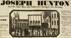 Poster describing executions at Newgate, 1828