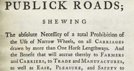 Extract from, 'An Essay on the present state of our publick roads', 1772
