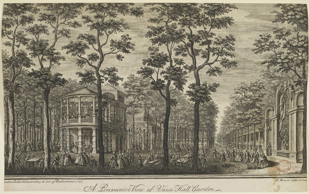 Visitors at Vauxhall Pleasure Gardens, 1744