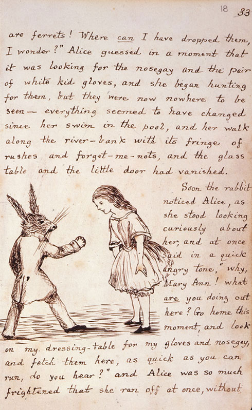 Image of Alice with the white rabbit