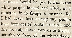 Equiano's account of the middle passage