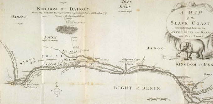 Map of the 'slave coast' of West Africa, 1789, G.15028.(1)