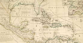 Map of the West Indies, 1740