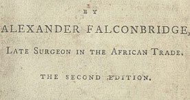 Title page of Falconbridge's An Account of the slave trade on the coast of Africa