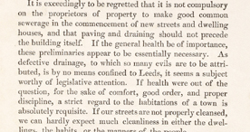 Extract taken from the Report to the Leeds Board of Health, 1833