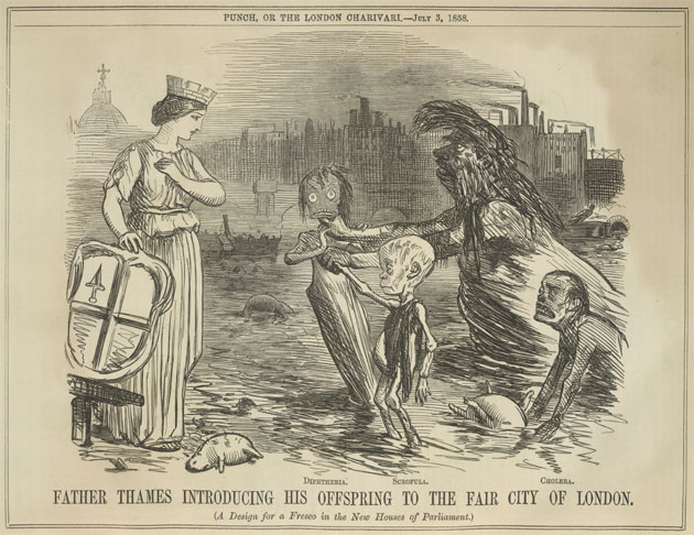 Father Thames, from Punch, 1858