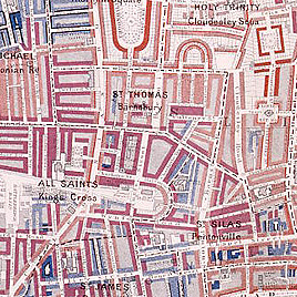 Detail of Booth's London Poverty Map