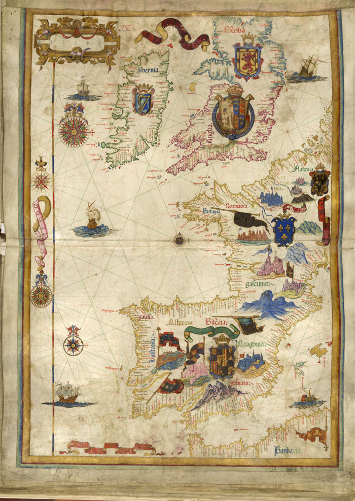 Detail of Map of British Isles