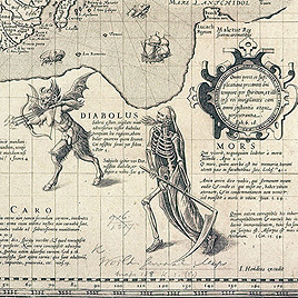 Detail of Christian knight world map, c.1596