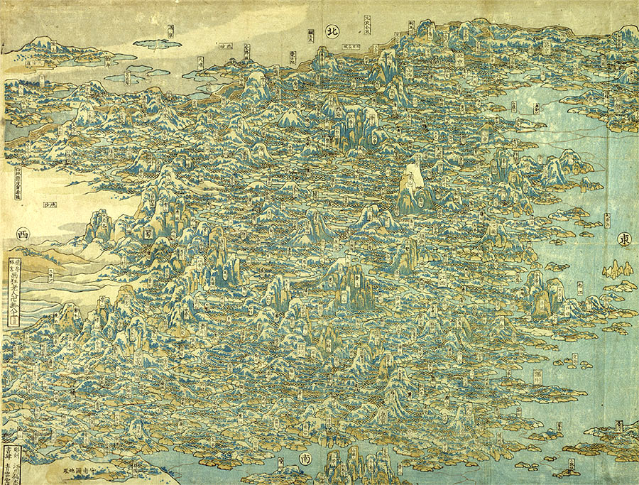 Image of Map of China by Hokusai, 1840