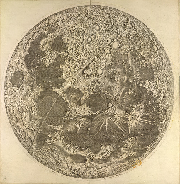 Image of map of the moon