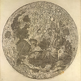 Detail of map of the moon