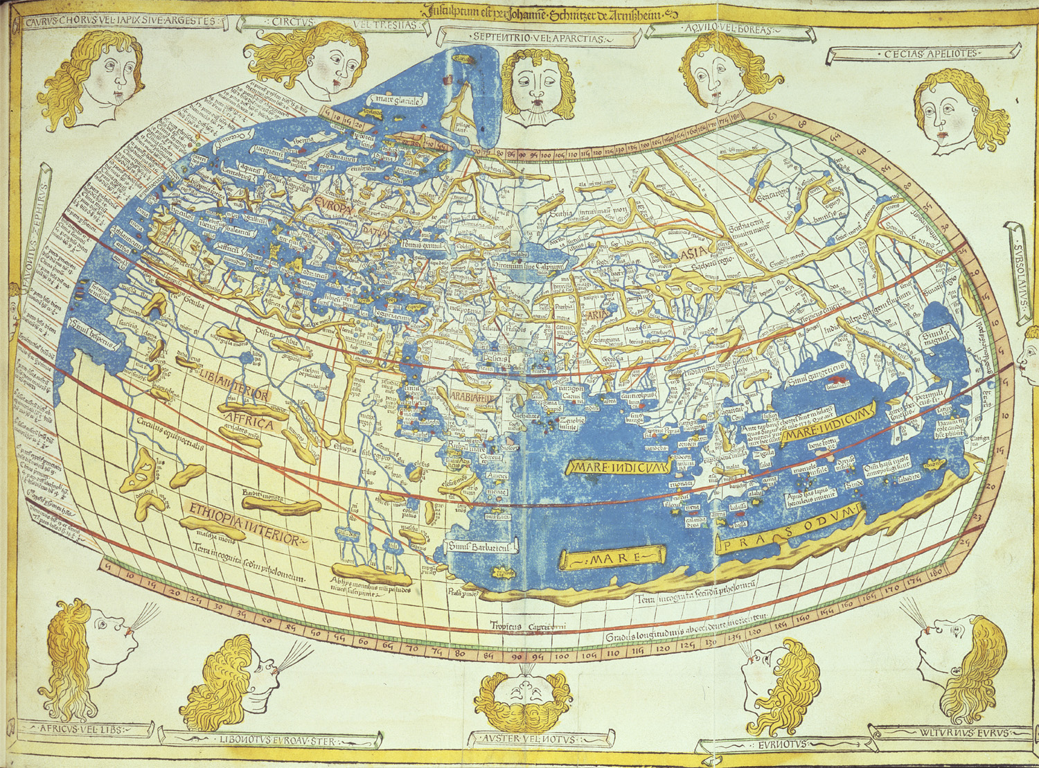 Image of Ptolemy's world map, 1482