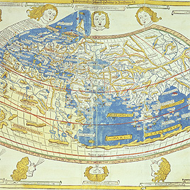 Detail of Ptolemy's world map, 1482