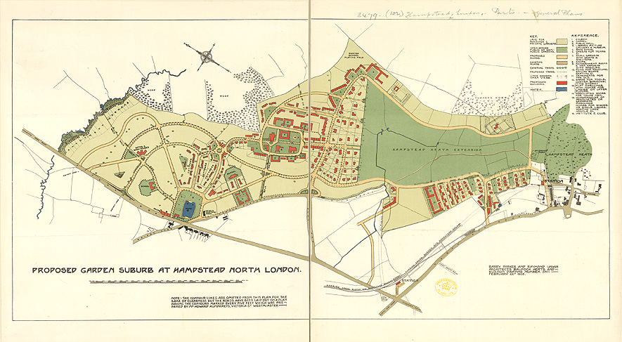Map of Hampstead Garden Suburb