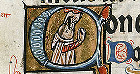 A self portrait of William de Brailes, Add. 49999 f.43r, c.1240