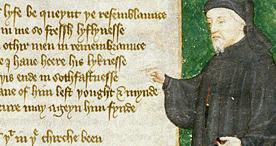 Portrait of Geoffrey Chaucer, Harley 4866 f.88, early c.15th