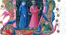 Dante and Virgil, Yates Thompson 36 f.1, c.1450