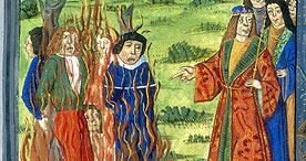 Heretics burned at the stake, Royal 20 E III f.177v, 1487