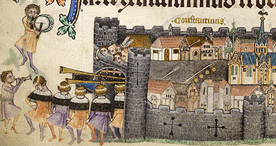 The protective wall of Constantinople, Add. 42130 f.164v, c.1325-1335