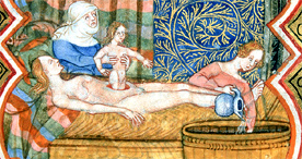Birth of Caesar, Royal 16 G VII f.219, c.1400