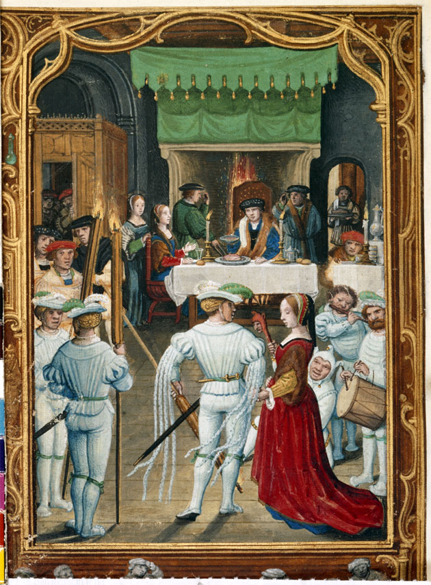 February, taken from the Golf Book, Add. 24098, f.19v