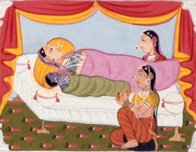 Detail showing birth of Rama